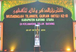 mtq kku ke III di kecamatan teluk batang kayong utara kalbar  t