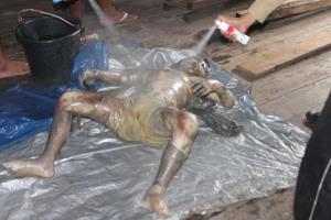 mayat korban di tanjung satai wata kayong