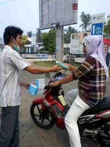 Bagi Masker warta Kayong Kalbar
