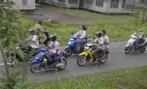 coret oret baju ujian dan d  konvoi di kayong utara
