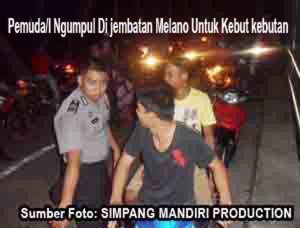 ank anka muda ngmpul di jembatan melano setiap malam minggu namun di tertibkan polisi 2014