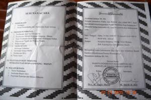 foto undangan pelantikan penobatan raja simpang matan tahun 2008 di kantor camat  simpang hilir kayong utara