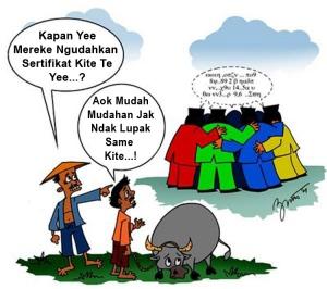karikatur  transmigrasi  i