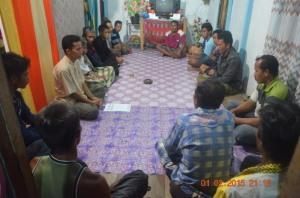 Sosialisasi di Desa Tanjung satai  pantai kerang  2015