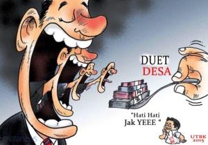 gambar karikatur politik suap Gegap Gempita Menyambut Realisasi UU Nomor 6-2014