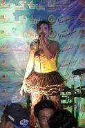 artis lokal sedang menyanyi di festival karimata 2015 menyambut sail karimata 2016