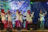 penampilan tarian warga lokal desa betok di festival karimata 2015 menyambut sail karimata 2016